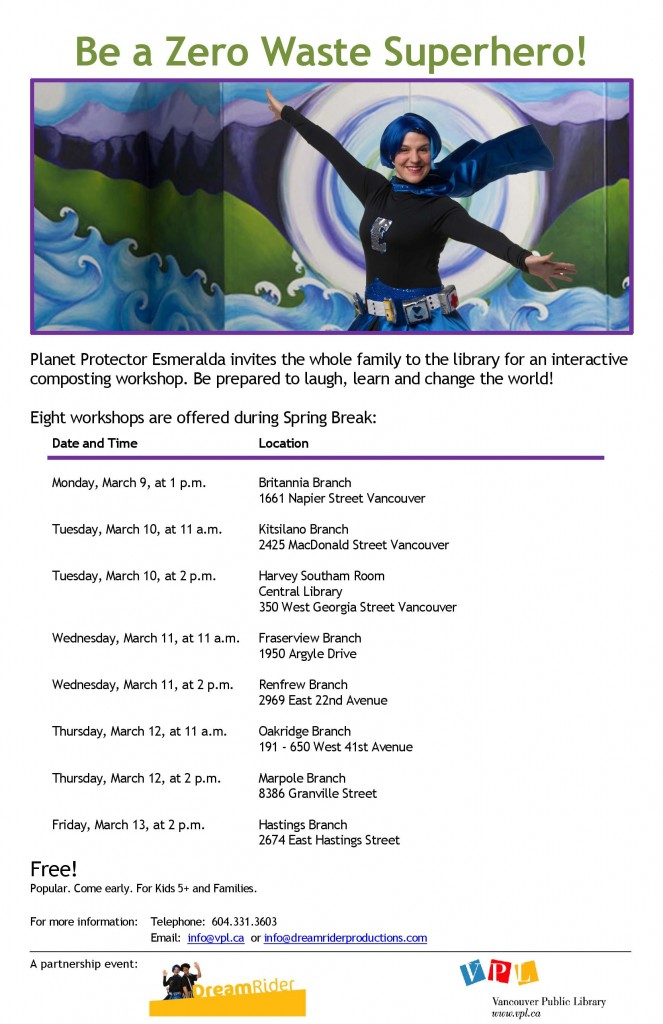 VPL - CTS - Middle Years - DreamRiders Food Scraps Workshop Poster - All Locations- March 2015-page-001
